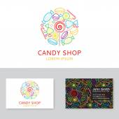 Candy shop logo and business card