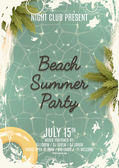Beach summer party flyer