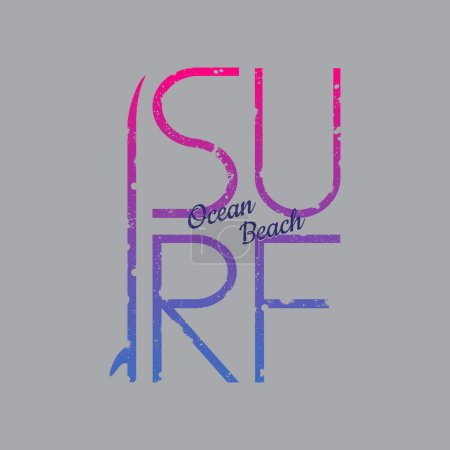 Surf illustration typography