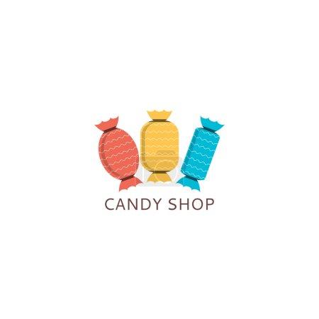 Illustration pour Icône de modèle de bonbons . - image libre de droit