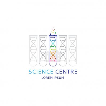 Illustration for Vector template logo for medical centre and other uses. - Royalty Free Image