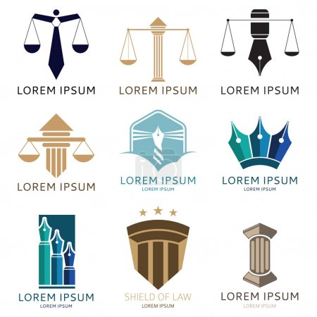 Set of lawyer logo and lawyer office logo