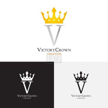 Illustration pour Logotype pour des utilisations dans différentes sphères. Logo mode, logo royauté, logo premium. Illustration vectorielle . - image libre de droit