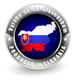 Produced in Slovakia label with  map