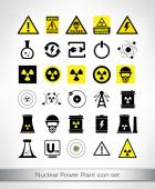 Nuclear Power Plant icon set