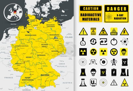 Nuclear power plant map of Germany