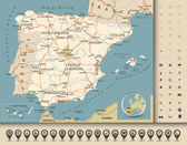 Road map of Spain