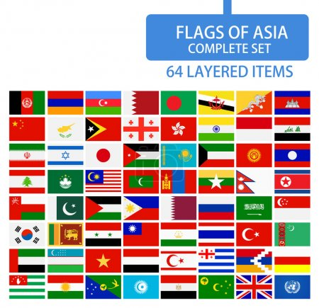 Flags of Asia Complete Set
