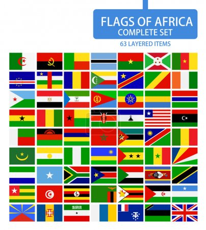 Flags of Africa Complete Set
