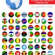 Постер, плакат: Round Glossy Flags of Africa Complete Set