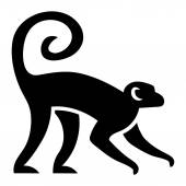 Stylized Monkey Illustration Isolated On White Background