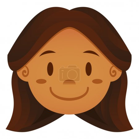 Cartoon Face Isolated On White Background