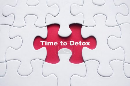Missing puzzle with Time to Detox word