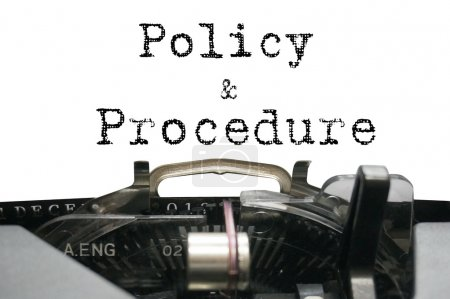 Policy & Procedure on typewriter