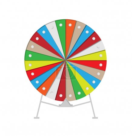 Illustration for Colorful wheel of fortune on white background, vector, isolated - Royalty Free Image
