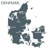 Vector Denmark map