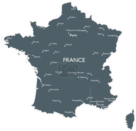 Vector France map