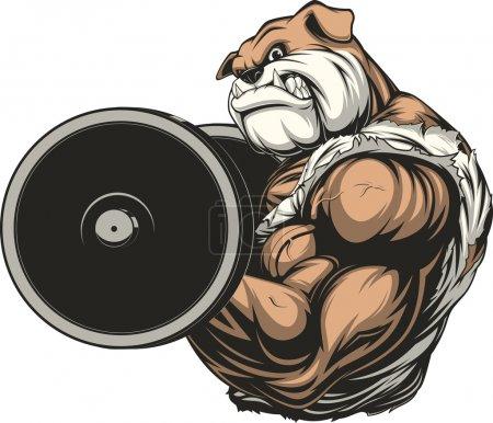 Strong ferocious dog