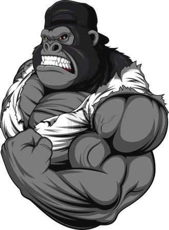 Terrible gorilla athlete
