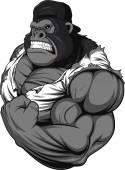 Atleta di terribile gorilla