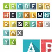 Grunge Dust Colorful Alphabet Icons