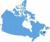 Map of Canada - Prince Edward Island province