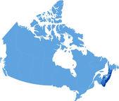 Map of Canada - Nova Scotia province