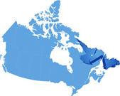 Map of Canada - Newfoundland and Labrador province