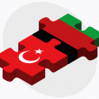 Постер, плакат: Turkey and Afghanistan Flags in puzzle
