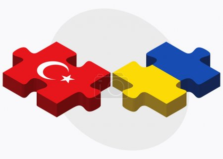 Turkey and Ukraine Flags