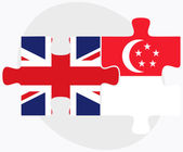 United Kingdom and Singapore Flags