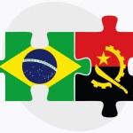 Постер, плакат: Brazil and Angola Flags