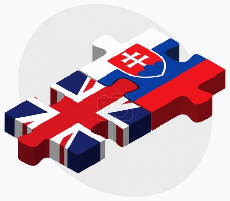 United Kingdom and Slovakia Flags