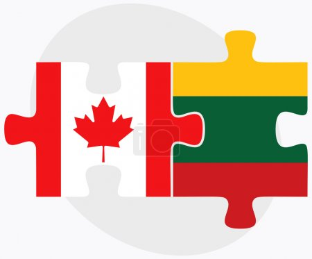 Canada and Lithuania Flags