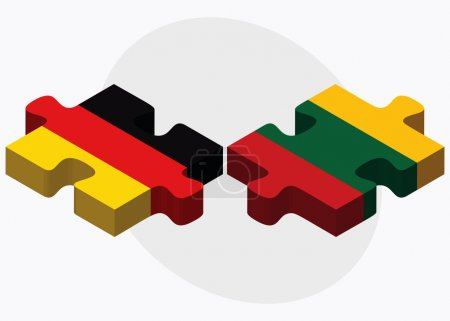Germany and Lithuania Flags