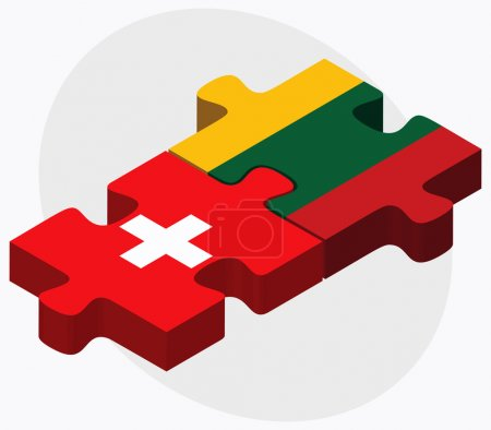 Switzerland and Lithuania Flags