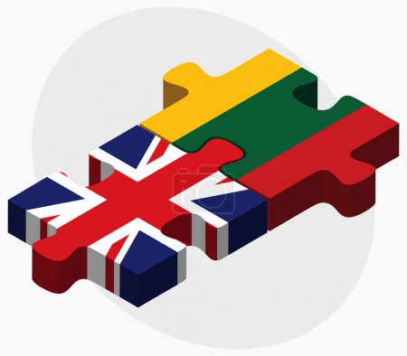 United Kingdom and Lithuania Flags