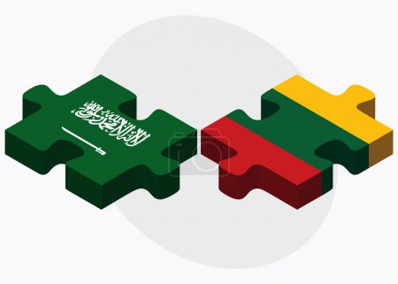 Saudi Arabia and Lithuania Flags