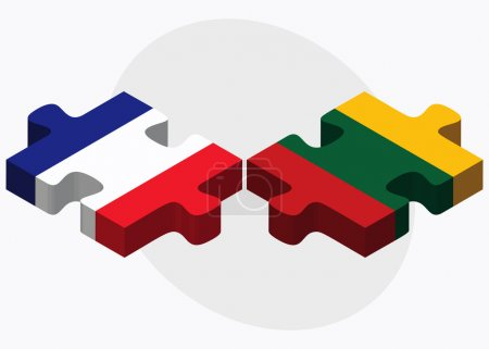 France and Lithuania Flags