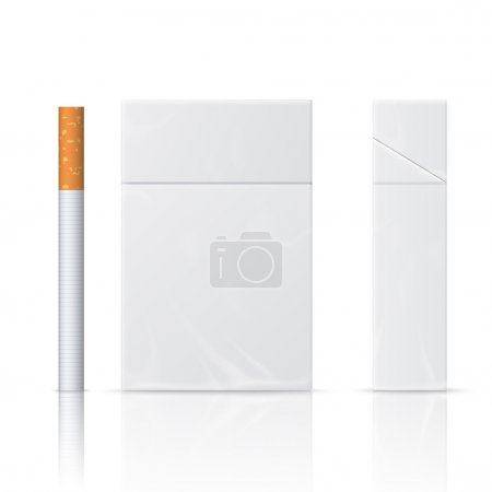 Realistic blanks of cigarette pack