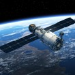 Space Station In Space. Realistic 3D Scene....