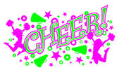Cheer With Cheerleaders and Megaphones