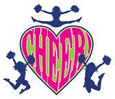 Cheer Heart With Cheerleaders