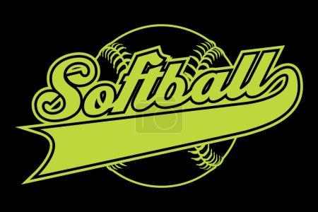 Softball Design With Banner