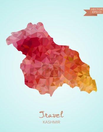 Low Poly Kashmir map