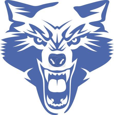 Illustration pour Loup sauvage. Graphique vectoriel - image libre de droit