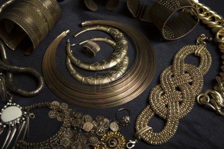 Set of Beautiful Oriental gold jewelry (Indian, Arab, African, E