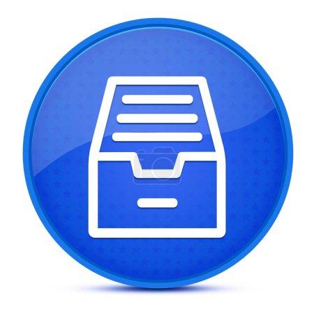 Ordnerarchiv Kabinett ästhetisch glänzend blau runde Taste abstrakte Abbildung