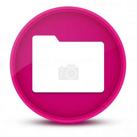 Ordner luxuriöse rosa glänzende runde Taste abstrakte Illustration