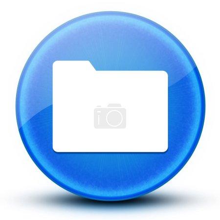 Ordner Augapfel glänzend blau runde Taste abstrakte Abbildung